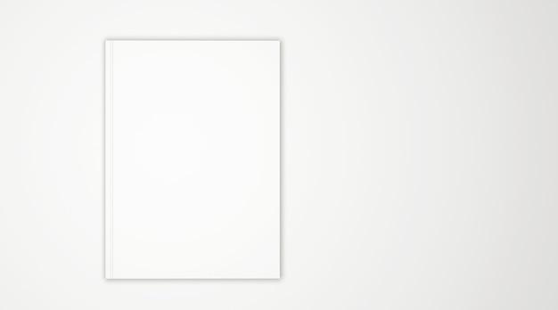 Pusta Okładka Książki Na Białym Tle Premium Zdjęcia