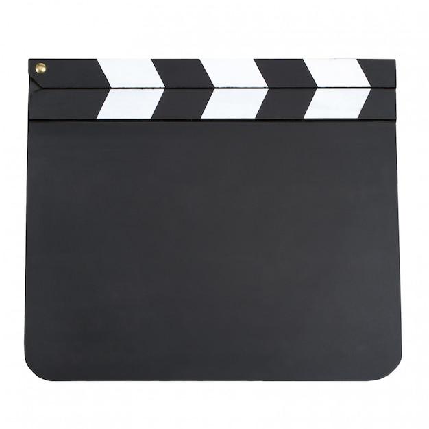 Pusta produkcja filmu klapy deska z miejsca kopiowania na białym tle dalej Premium Zdjęcia