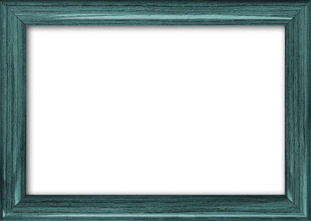 Pusta ramka na zdjęcia z wolnym miejscem wewnątrz, na białym tle Premium Zdjęcia