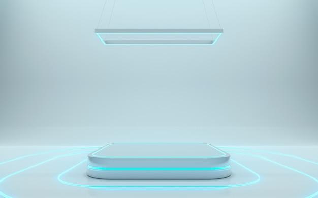 Puste podium dla produktu. renderowania 3d - ilustracja Premium Zdjęcia