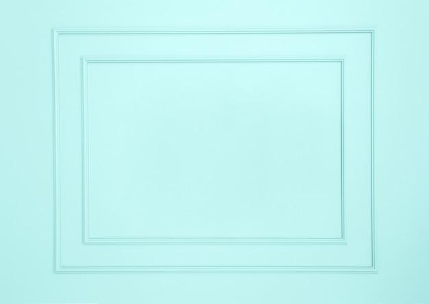 Puste ramki na białej ścianie Premium Zdjęcia
