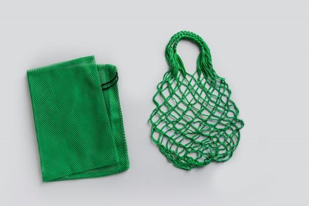 Puste torby z siatki na zakupy Premium Zdjęcia