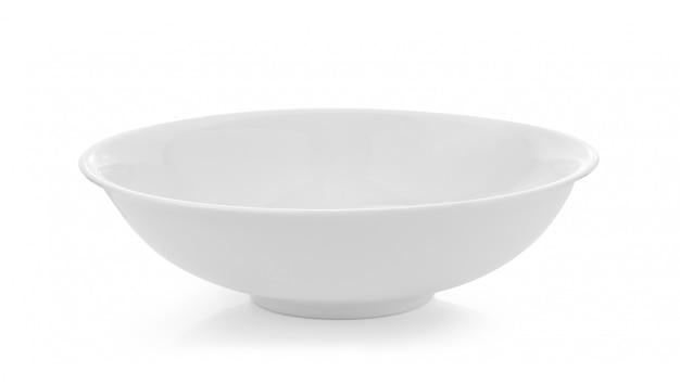 Pusty Biały Puchar Odizolowywający Na Biel Przestrzeni Premium Zdjęcia