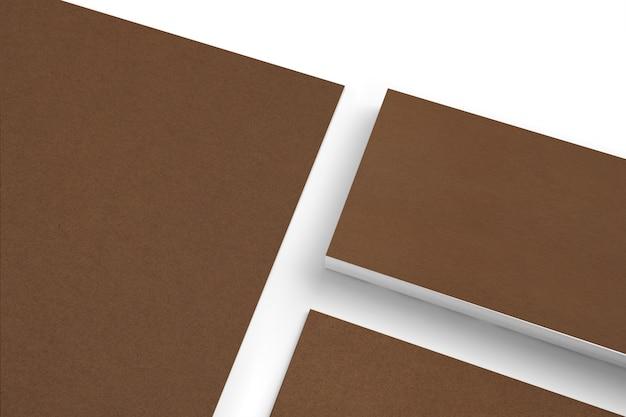 Pusty Kartonowy Papierowy Materiały Ustawia Odosobnionego Na Białym Clode-up Widoku Darmowe Zdjęcia