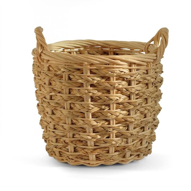 Pusty koszyk wiklinowy prezent do umieszczania produktów piekarniczych owoców warzyw Premium Zdjęcia