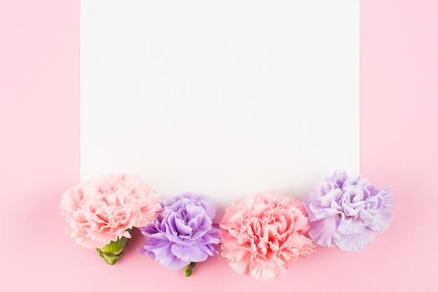 Pusty Papier Z Uroczymi Kwiatami Na Końcu Darmowe Zdjęcia