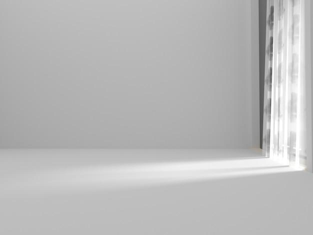 Pusty pokój i zasłona Premium Zdjęcia