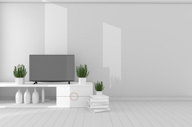 Pusty Pokój Koncepcja - Minimalistyczny Projekt, 3d Rendering Premium Zdjęcia