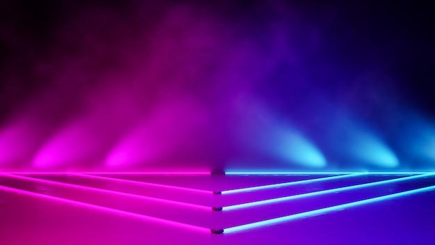 Pusty trójkątny neon Premium Zdjęcia