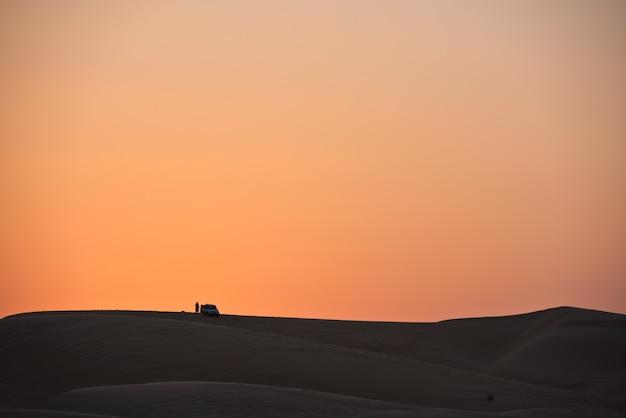 Pustynne Wydmy W Liwa, Zjednoczone Emiraty Arabskie Premium Zdjęcia