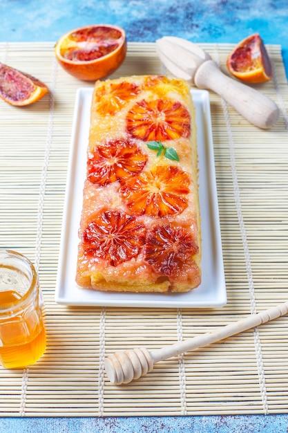 Pyszna Francuska Tarta Deserowa Z Czerwoną Pomarańczą. Darmowe Zdjęcia