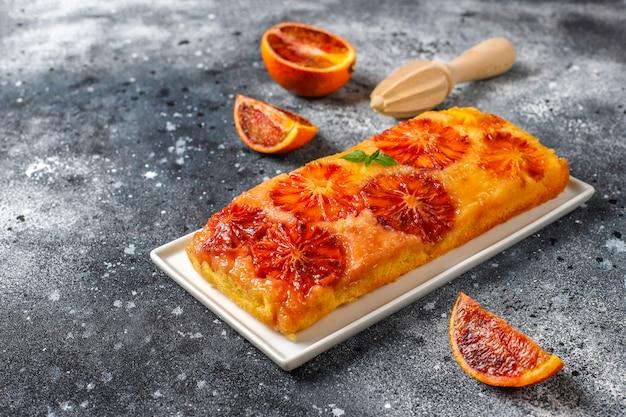 Pyszna Francuska Tarta Deserowa Z Krwistą Pomarańczą. Darmowe Zdjęcia
