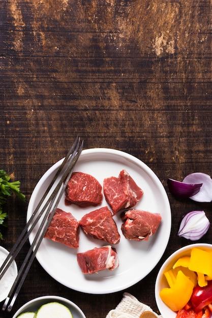 Pyszne Arabskie Fast Foody Kawałki Miejsca Kopiowania Mięsa Darmowe Zdjęcia