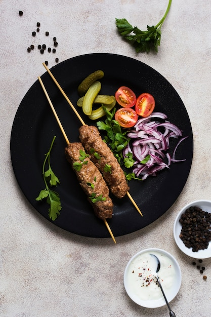 Pyszne Arabskie Szaszłyki Fast-food Darmowe Zdjęcia