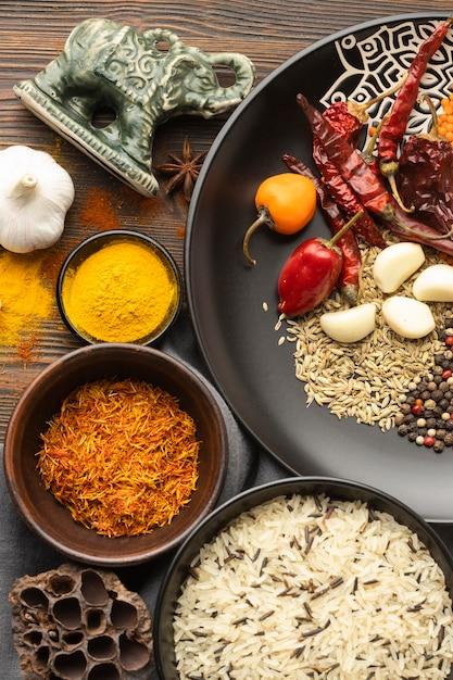 Pyszne Indyjskie Przyprawy Premium Zdjęcia