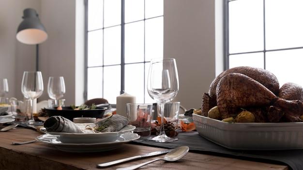 Pyszne Jedzenie Na Stole Na święto Dziękczynienia Darmowe Zdjęcia