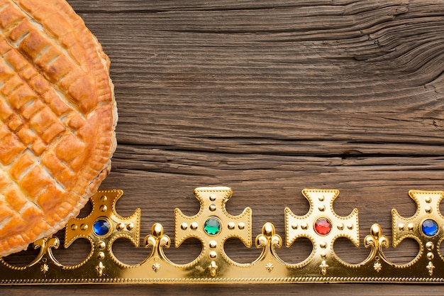 Pyszne Miejsce Na Kopię Deser Ciasto Epiphany Premium Zdjęcia