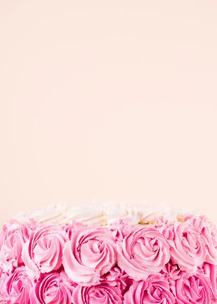 Pyszne Różowe Ciasto Z Kopią Miejsca Darmowe Zdjęcia