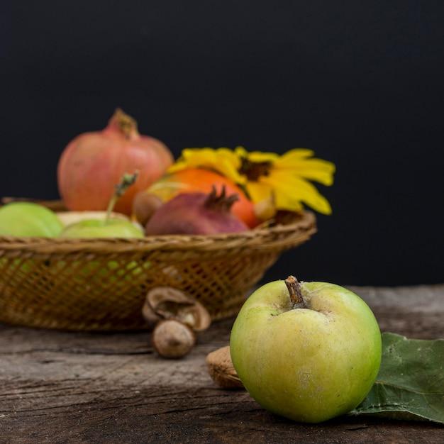 Pyszny Kosz Z Jesiennym Jedzeniem Darmowe Zdjęcia