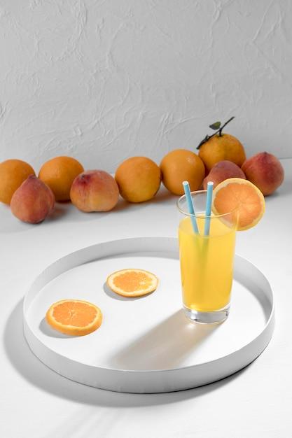 Pyszny Pomarańczowy Napój Wysoki Kąt Darmowe Zdjęcia