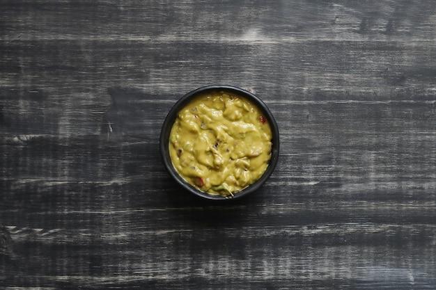 Pyszny Sos Guacamole W Misce Darmowe Zdjęcia