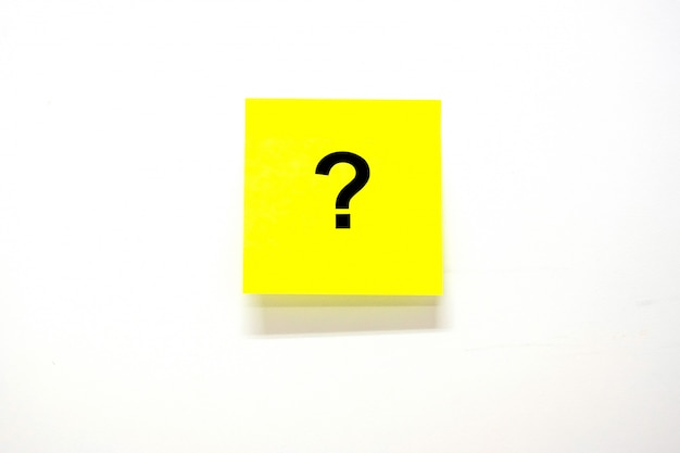 Pytania oznacz (?) słowo papierem do pisania lub opublikuj Premium Zdjęcia