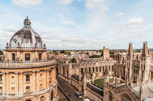 Radcliffe Camera I All Souls College Na Uniwersytecie W Oksfordzie. Oxford, Wielka Brytania Premium Zdjęcia
