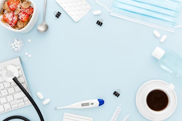 Rama Biurka Medycznego I śniadanie Darmowe Zdjęcia