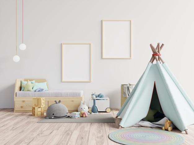 Rama Plakatowa W Pokoju Dziecięcym, Pokoju Dziecięcym, Pokoju Dziecinnym Premium Zdjęcia