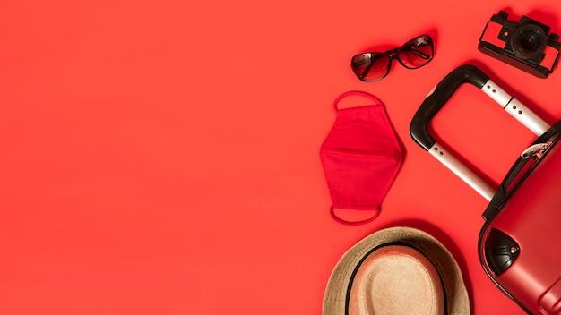 Rama Widokowa Z Bagażem Premium Zdjęcia