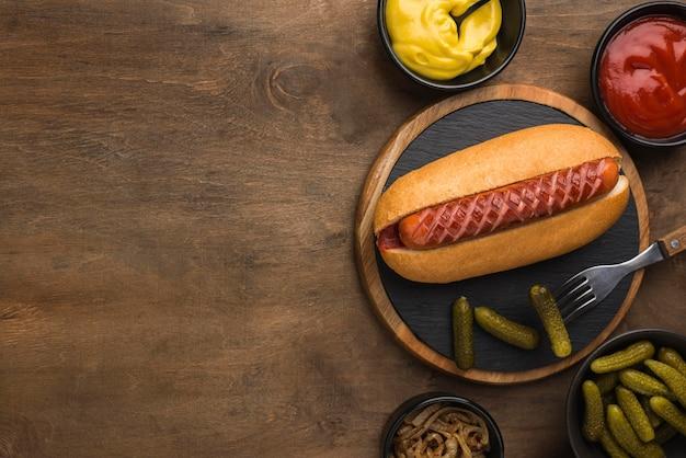 Ramka Do Hot Dogów Z Płaską Powierzchnią Do Kopiowania Darmowe Zdjęcia