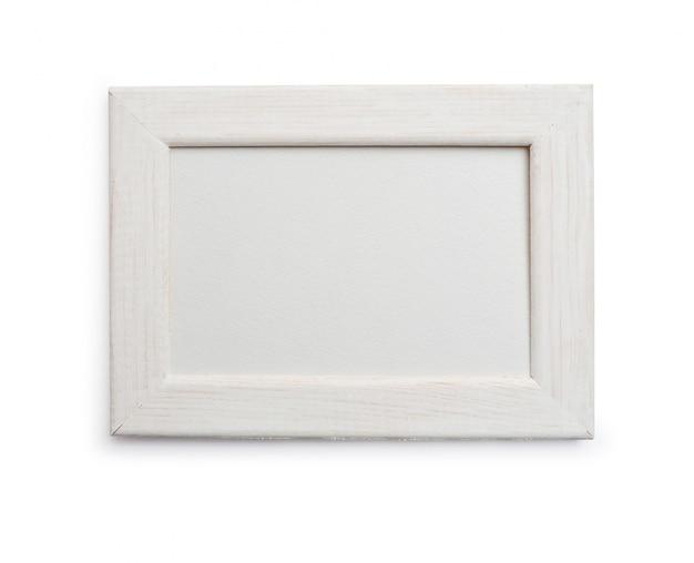 Ramka Na Pojedyncze Maski Przycinającej Na Białym Tle Premium Zdjęcia