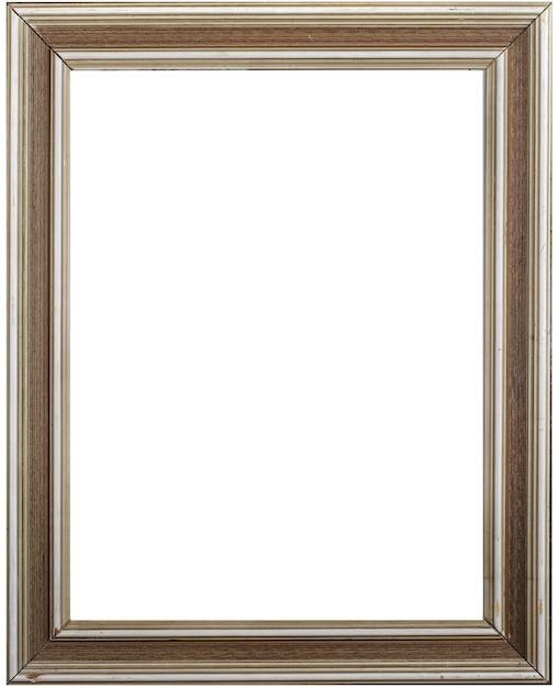 Ramka Na Zdjęcia I Białe Tło Premium Zdjęcia