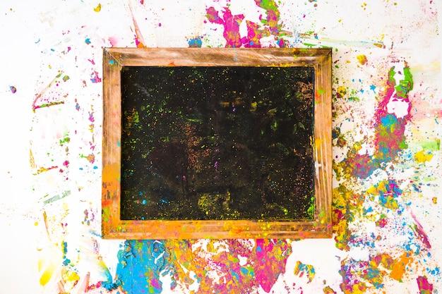 Ramka na zdjęcia w pobliżu zaciera się różne jasne, suche kolory Darmowe Zdjęcia