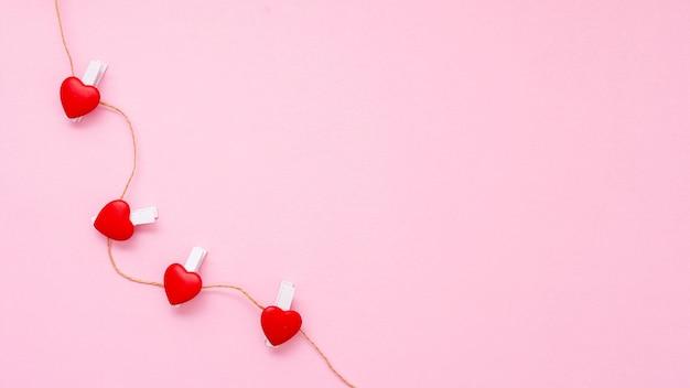 Ramka widokowa z lampkami w kształcie serca i miejscem na kopię Darmowe Zdjęcia