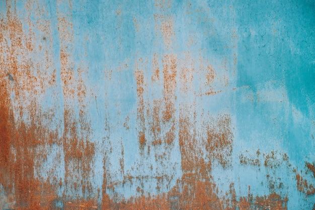 Rdza na powierzchni metalicznej. żelazna tekstura. Premium Zdjęcia