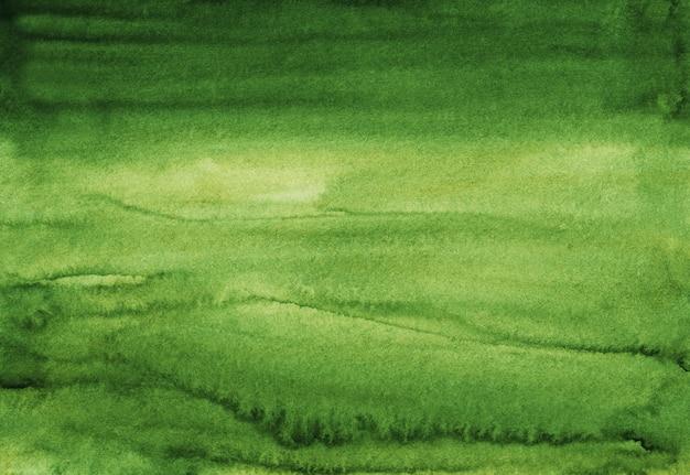 Ręcznie Malowane Akwarela Zielone Tło Tekstura. Akwarela Streszczenie Głębokie Tło świerk. Plamy Na Papierze. Premium Zdjęcia