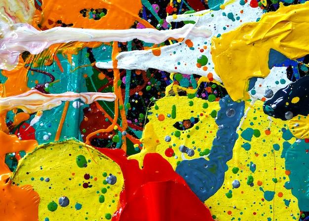 Ręcznie Rysować Kolorowe Farby Olejnej Streszczenie Tekstura. Premium Zdjęcia