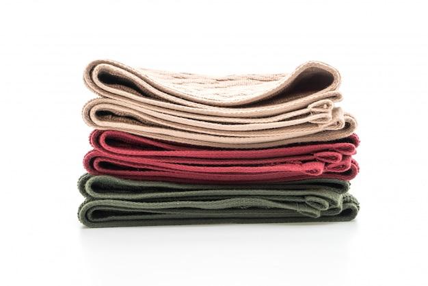 Ręcznik na białym tle Premium Zdjęcia