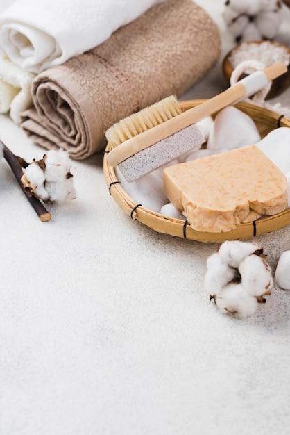 Ręczniki Spa Z Pędzlem I Mydłem Darmowe Zdjęcia