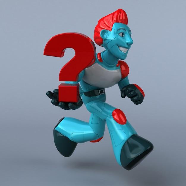 Red Robot - Postać 3d Premium Zdjęcia