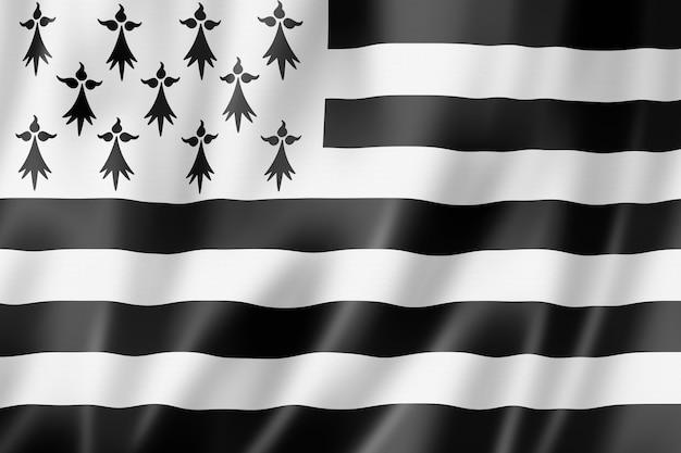 Region Bretagne - Gwen Ha Du - Flag, Francja Premium Zdjęcia