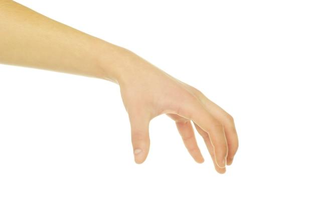 Ręka Na Białym Tle Na Białym Tle Premium Zdjęcia