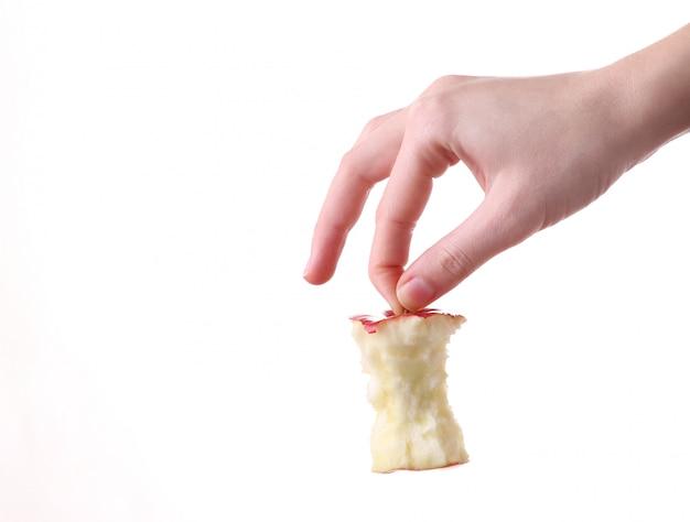 Ręki Mienia Jabłczany Karcz Na Białym Tle Premium Zdjęcia