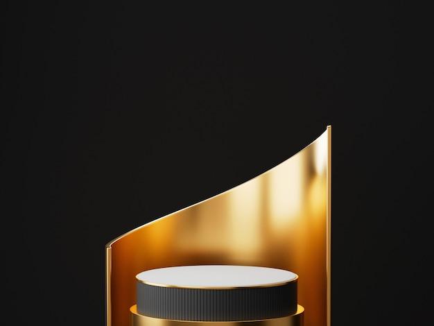Renderowania 3d Cokole Wyświetlacz Podium Premium Zdjęcia