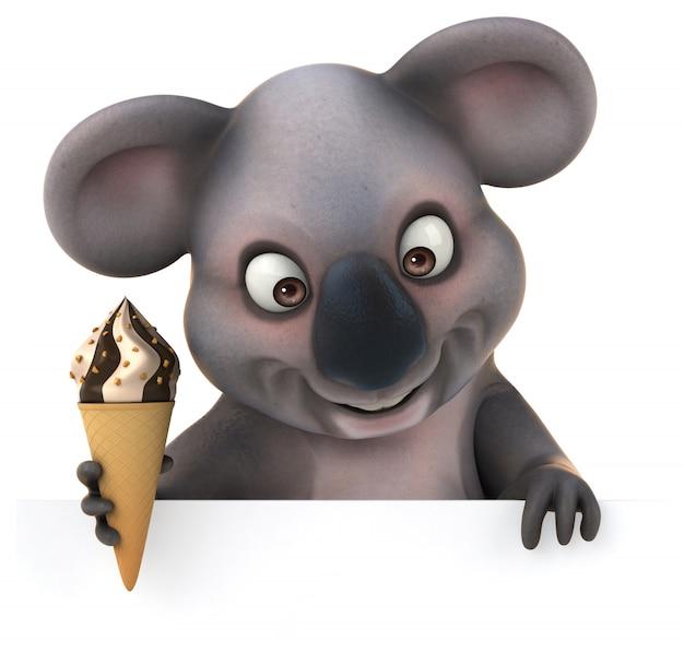 Renderowania 3d śmieszne Koala Premium Zdjęcia