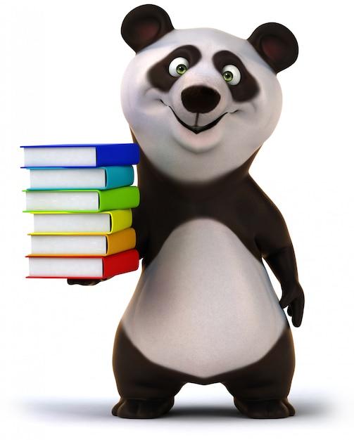 Renderowania 3d śmieszne Miś Panda Premium Zdjęcia