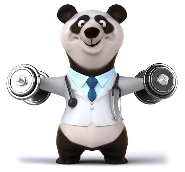 Renderowania 3d śmieszne Niedźwiedzia Premium Zdjęcia