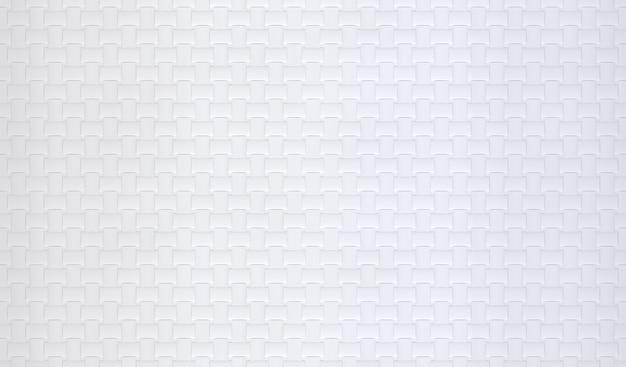 Renderowanie 3d. Biała Krata Wzór Powierzchni Materiał Tekstura ściana Backgorund. Premium Zdjęcia