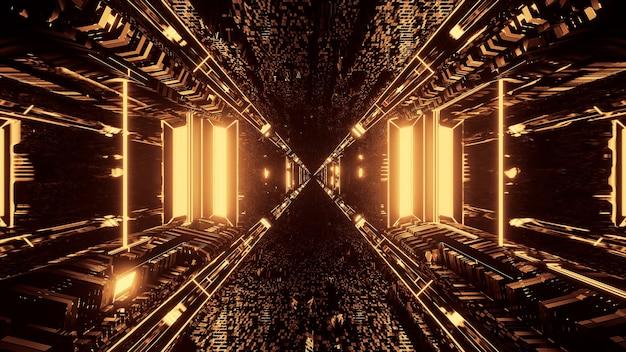 Renderowanie 3d Futurystyczne Sci-fi Techno światła - Fajne Tło Darmowe Zdjęcia